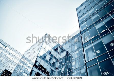 modern business center at night - stock photo
