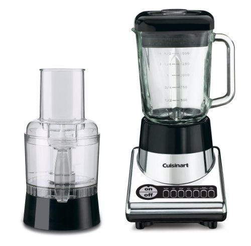 Cuisinart's powerful new 7-speed blender has a genuine Cuisinart food processor. A heavy-duty 500-watt motor pulses, stirs, mixes, purees, chops and even crushes ice in record time. In food processor mode, users can slice, shred or process ingredients right into a 3 cup … Continue reading Cuisinart BFP-10CH PowerBlend Duet Blender and Food Processor, Chrome and Black →