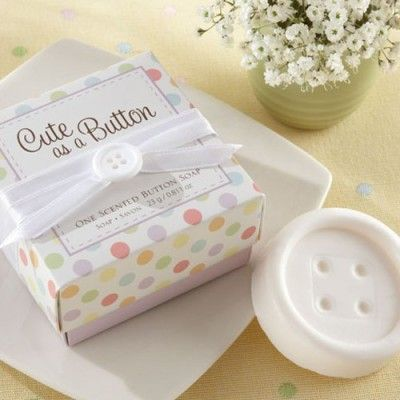 free-cute-as-a-button-baby-shower-ideas #decorations #babyshowerideas #invitations