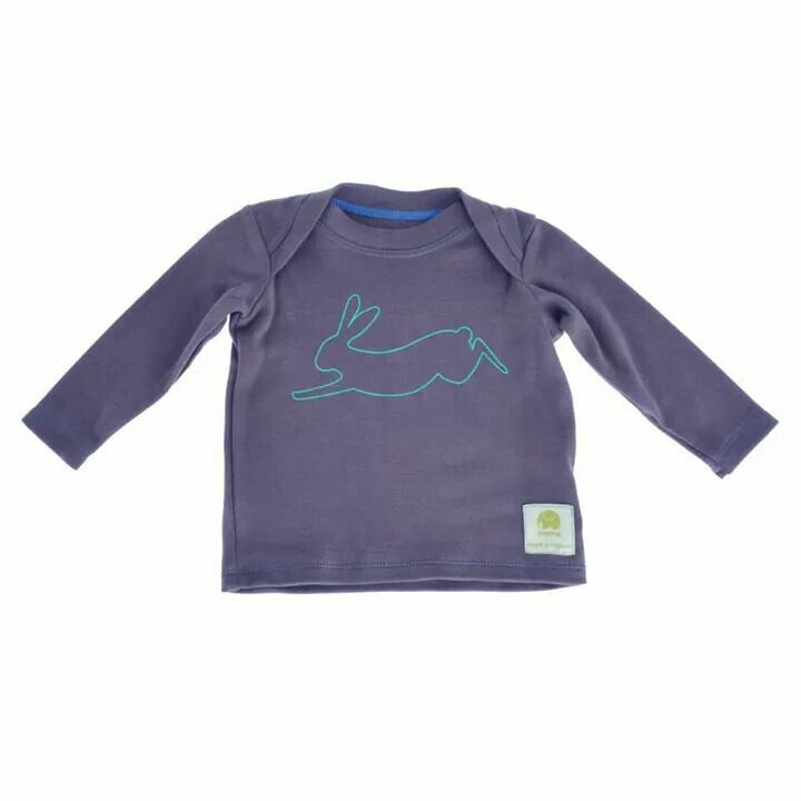 Leaping hare baby tee in donkey. AW14,www.imminkkids.com