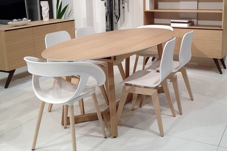 table ovale avec rallonge integree mobiliers pinterest tables ovales rallonges et table. Black Bedroom Furniture Sets. Home Design Ideas