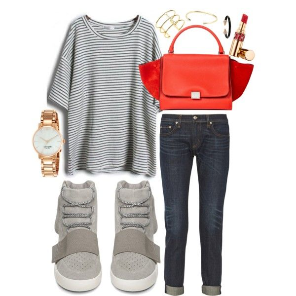 Untitled #1631 by linneabryngnas on Polyvore featuring rag & bone, adidas, Vita Fede, Yves Saint Laurent, Kate Spade and Elizabeth and James