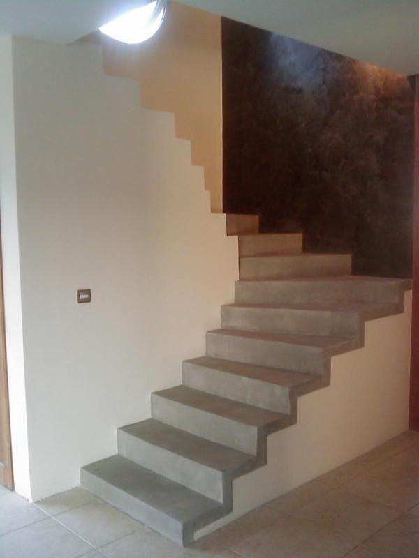 beton cire escaliers pinterest d cor id es et escaliers. Black Bedroom Furniture Sets. Home Design Ideas