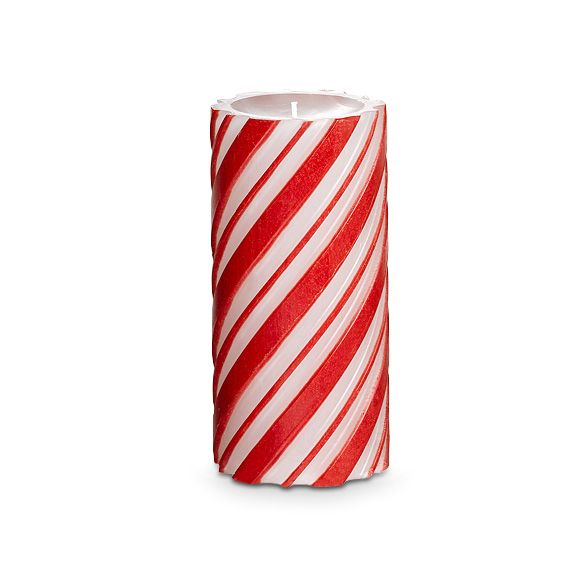 An all-over, red and white candy striped glow makes this pillar perfect for the holidays! Fragranced with our Holiday Spices™ scent, a comforting blend of vanilla, cinnamon and cloves. Each GloLite candle is individually crafted so slight variations in color and texture may occur. Burn time: 80-100 hours. $23.00 each  on sale 50% off  $11.50 each ....Till Friday October 25th 2013