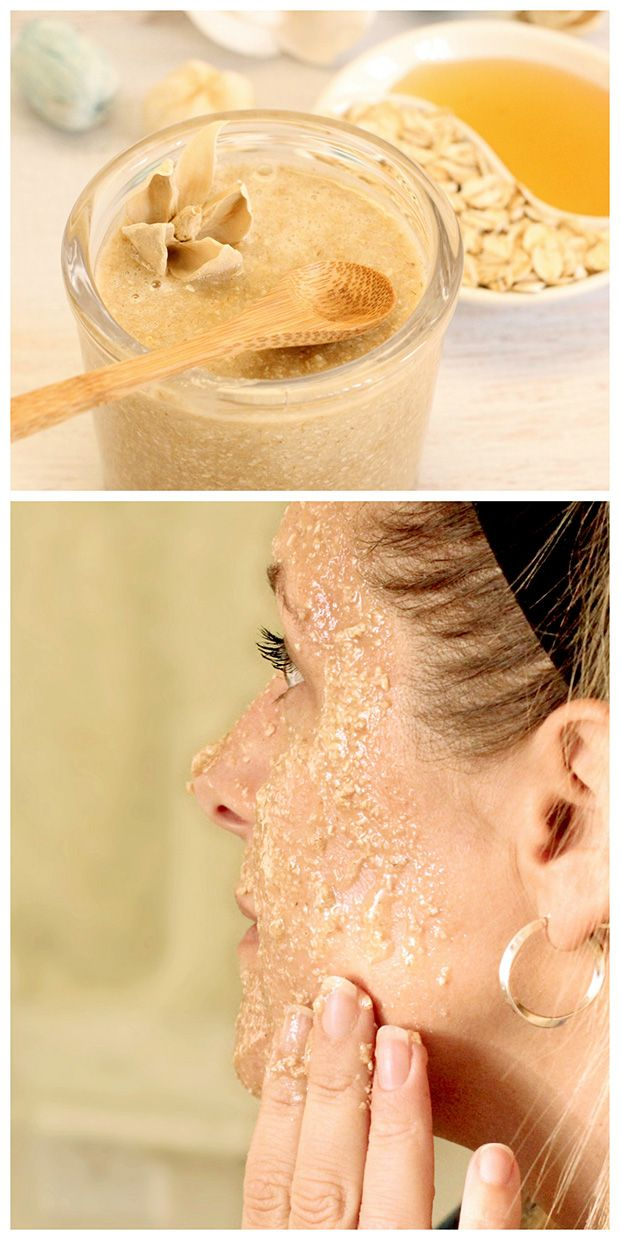 Oatmeal honey face scrub makes your face feel clean and smooth.