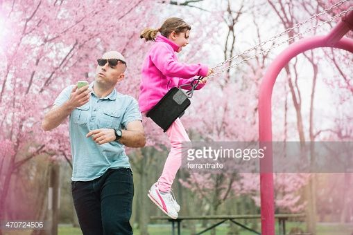 Stock Photo : Swing Accident in the Park