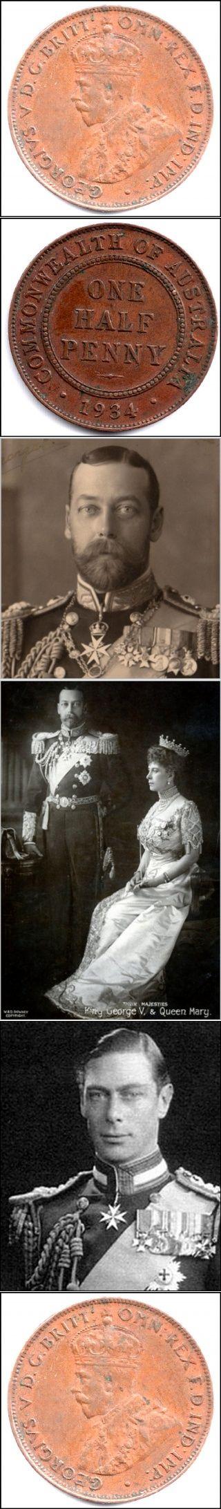 The King George V Australian 1934 Half Penny