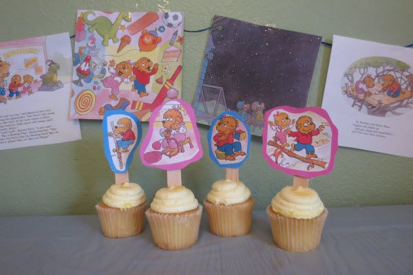 Berenstain Bears Party - 8 Fantastic Party Themes - ParentMap (I like how they did these cupcakes! Great idea!)