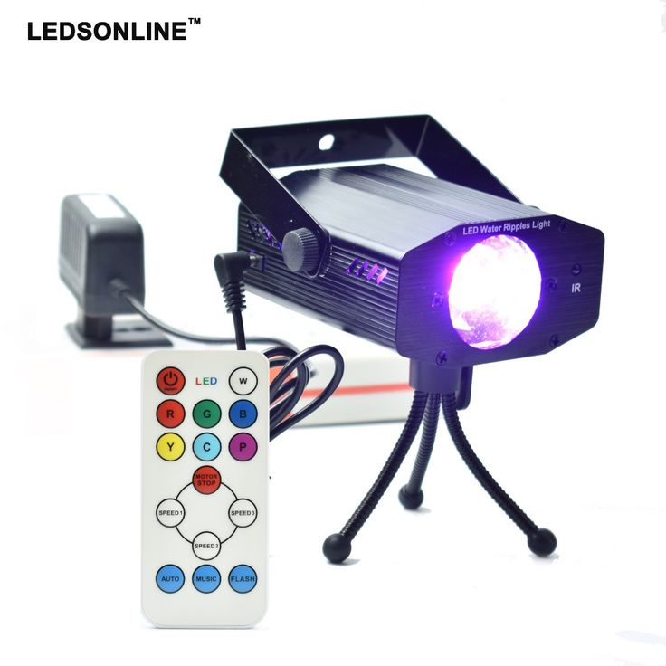 Black water ripples light with remote controller LED Disco home Light Stage Xmas Party Laser stage Lighting Tripod EU US plug