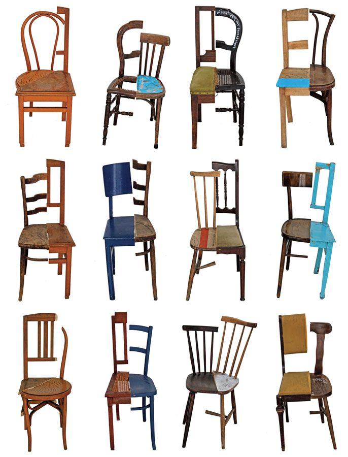 jacques lizene: chaises decoupees