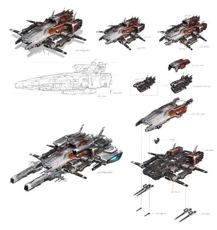 land vehicle concept, J.C Park on ArtStation at https://artstation.com/artwork/land-vehicle-concept