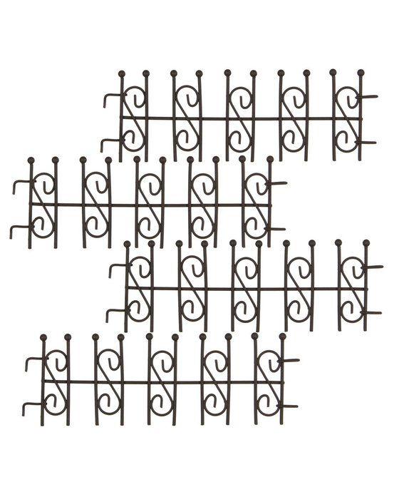 MiniGarden Decoratief hek bruin  Mooi gedecoreerd miniatuur hek om uw mini tuin mee af te omsluiten of stukjes mee te scheiden. Het sierlijke ontwerp doet denken aan smeedijzeren hekken in cottage tuinen. Afmeting hek: 195 x 7 cm Gemaakt van metaal Geschikt voor binnen en buiten  EUR 5.95  Meer informatie