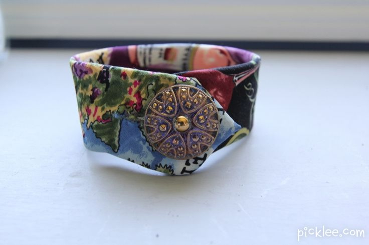 necktie bracelet diy...want to try this with some of my Dad's ties.