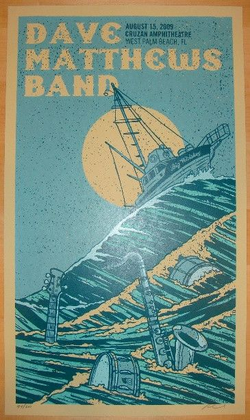 1000 images about dmb concert posters on pinterest rye whiskey studios and west palm beach. Black Bedroom Furniture Sets. Home Design Ideas