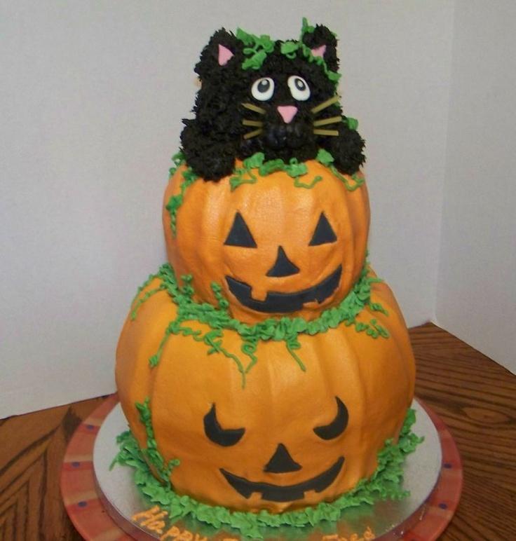 38 best Catcakes images on Pinterest Halloween foods, Conch - halloween birthday cake ideas