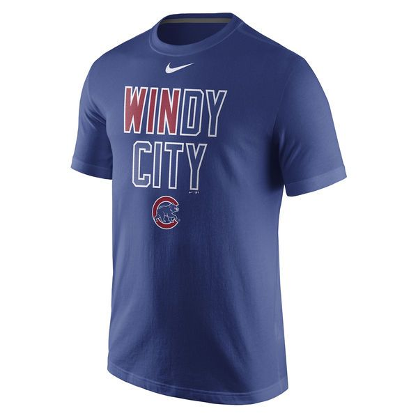 Chicago Cubs Nike 2016 Postseason Playoff Local T-Shirt - Royal