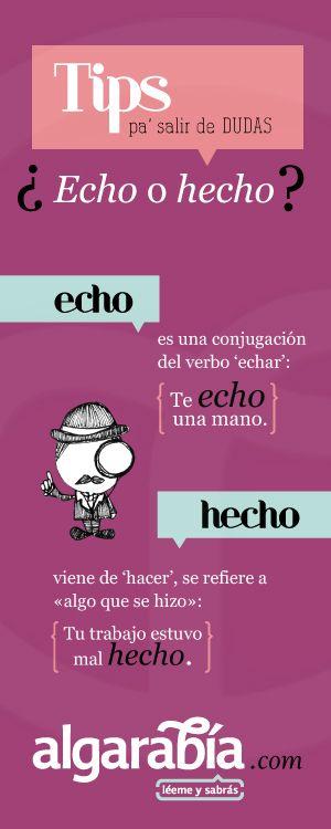 #TipDeLengua: ¿Echo o hecho?