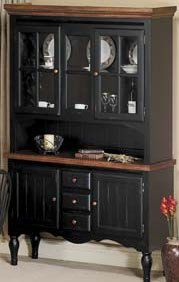 Black China Cabinet. I Could Leave Top Brown!