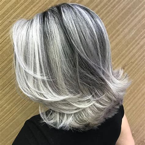 Image Result For Frosting Gray Hair With Highlights And