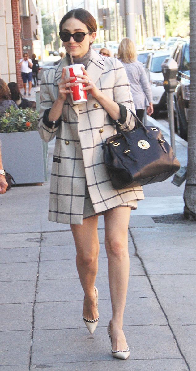 Emmy Rossum from The Big Picture: Today's Hot Pics  The Shameless actress grabs lunch in Beverly Hills.