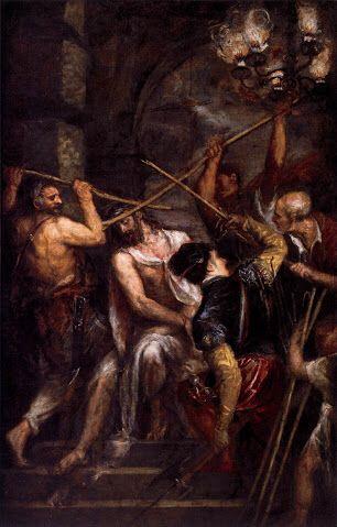La coronación de espinas  1604 Carvaggio