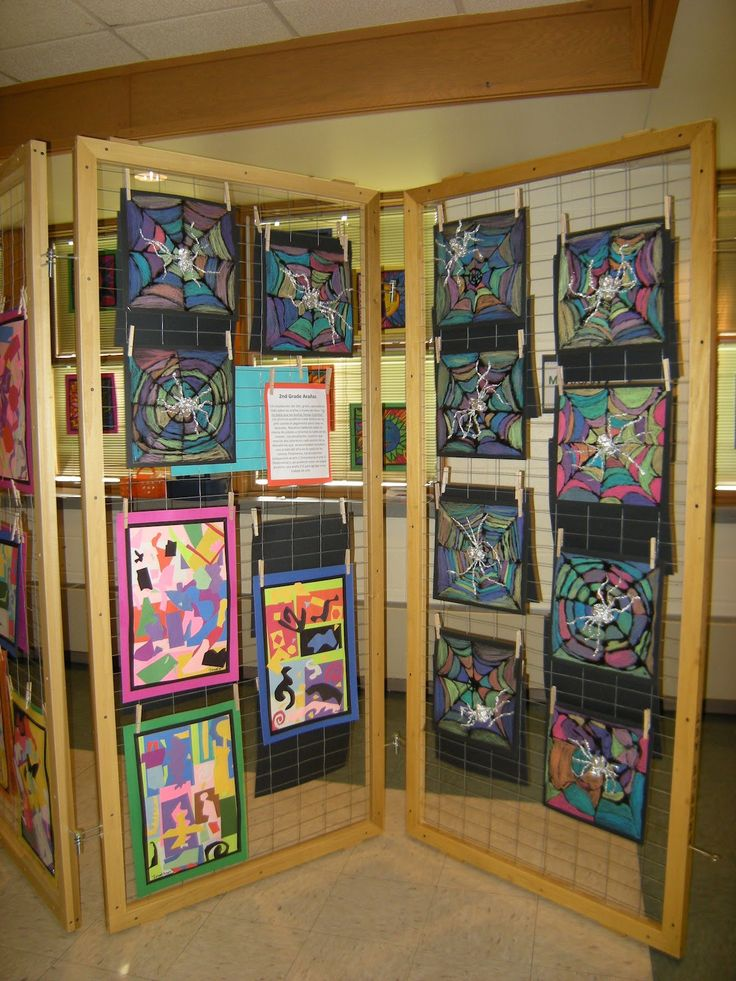 64 best children 39 s art display images on pinterest for Display walls for art shows