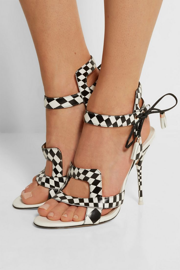 Sophia Webster | Poppy checked leather sandals | NET-A-PORTER.COM