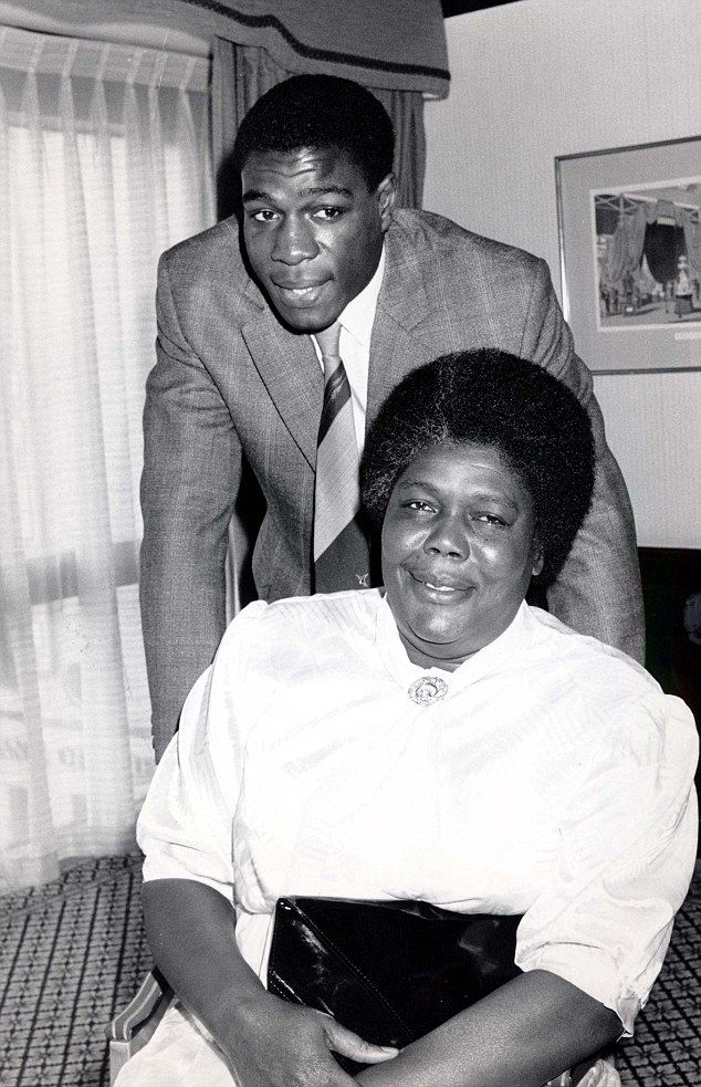 Frank Bruno with his mother Lynette Bruno at a Variety Club luncheon in 90s