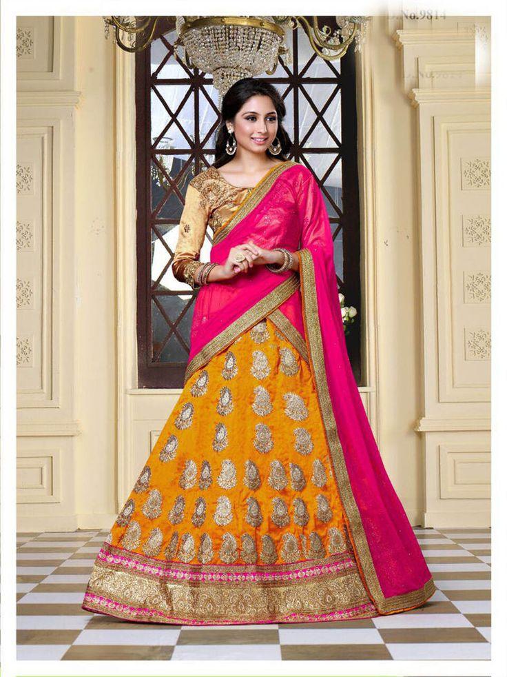 Indian wedding lehenga womens dress bollywood designer bridal choli dupatta set #Designer #Lehenga #PartyWearWedding