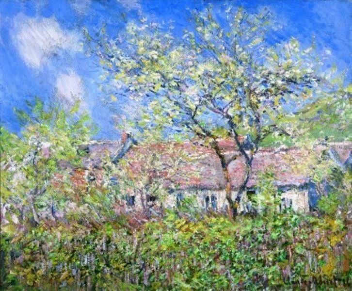 Claude Monet - Springtime at Giverny (Printemps à Giverny), 1886 | Monet  art, Claude monet paintings, Artist monet