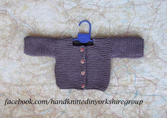Hand Knitted Baby Girl Jacket French Style by HandKnittedYorkshire