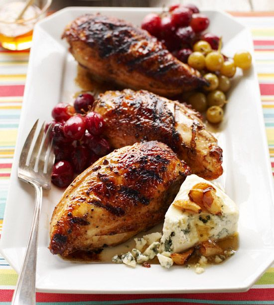 Honey Glazed Chicken with Roasted Grapes