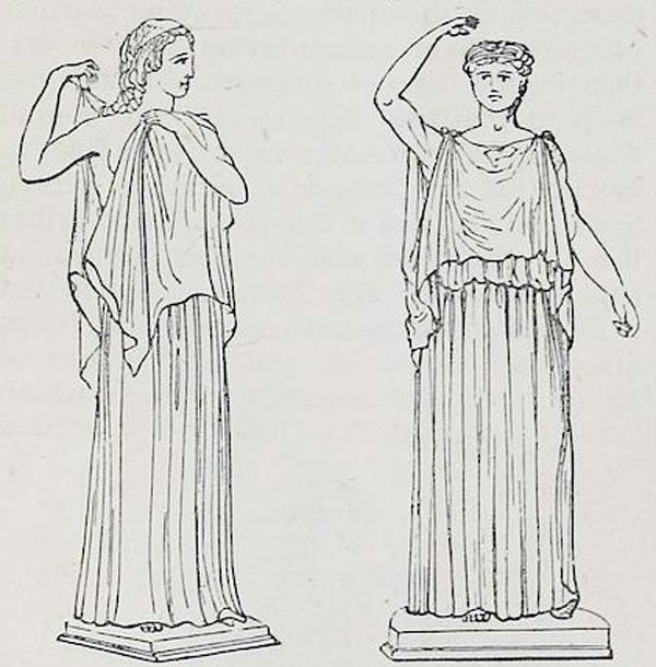 Ancient Roman Clothing For Men: The Roman Tunica Or Greek Chiton. The Dorian And The