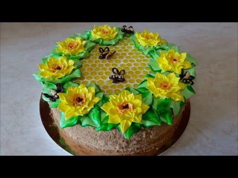 Торт МЕДОВИК Рецепт медовика на ЖЕЛТКАХ Honey Cake Recipe ...