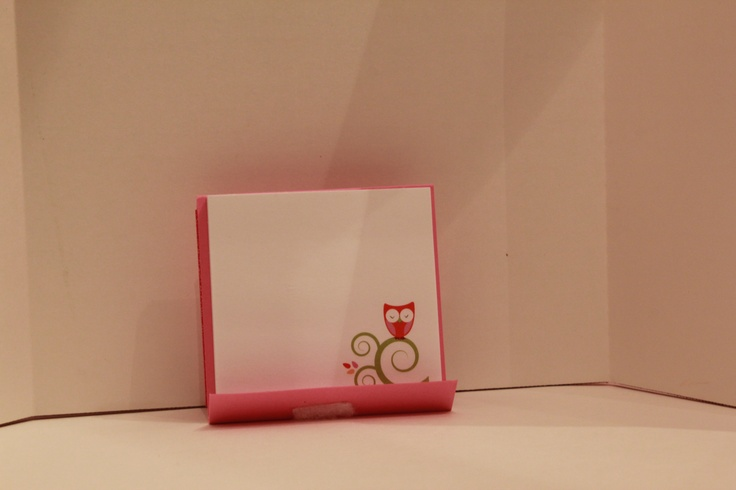 The inner part of my Post It note holder.  Had to get the cute owl Post Its.  Found them at Dollar General for ONE DOLLAR!