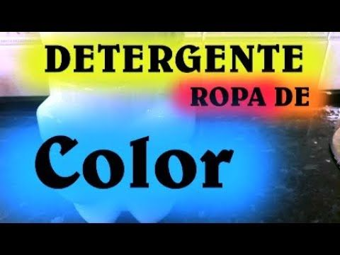 Detergente Ropa De Color, super potente y económico, proteje los colores LEED EL PRIMER COMENTARIO - YouTube
