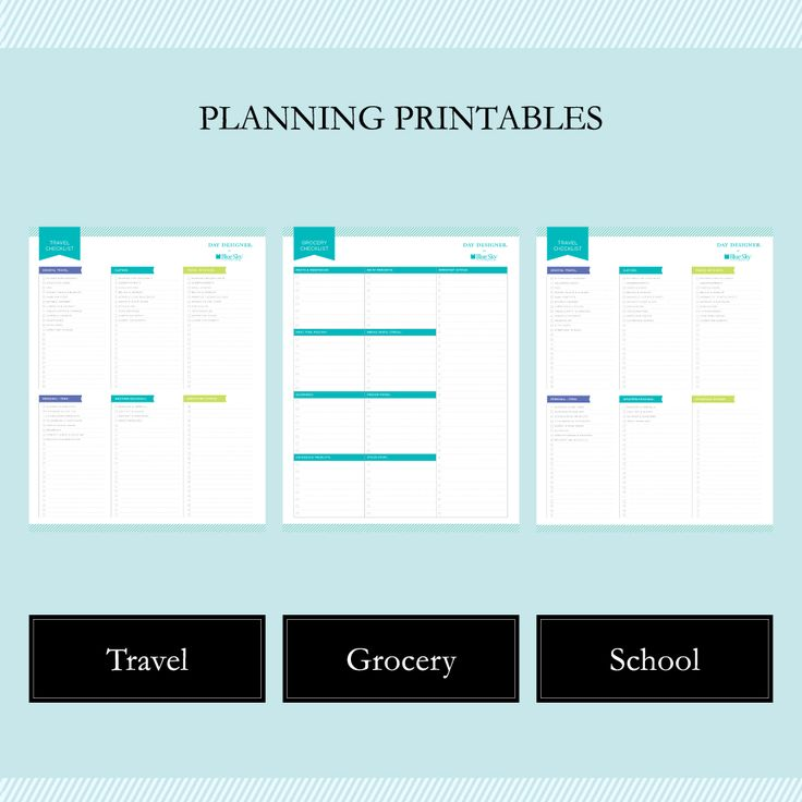 Together with Whitney English, we're bringing you a set of FREE planning printables that will make your day smoother, from travel plans to grocery shopping!