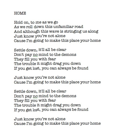 home lyrics - phillip phillips - american idol winner - love