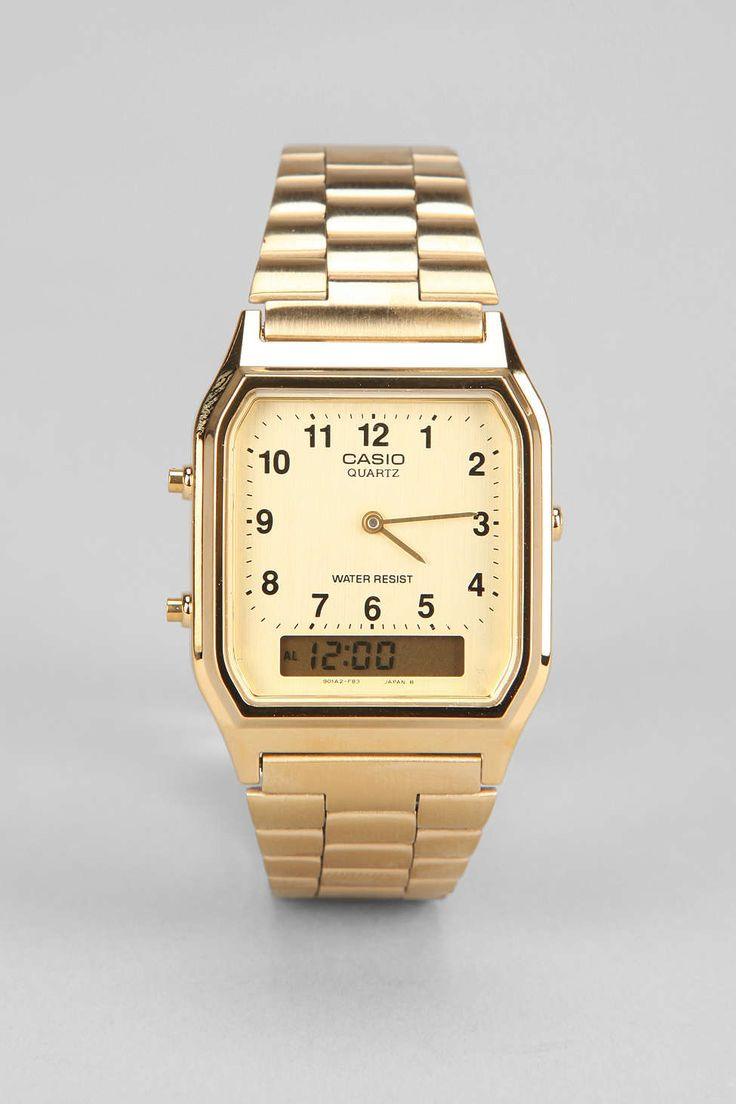 Casio Classic Gold Dress Watch - Urban Outfitters