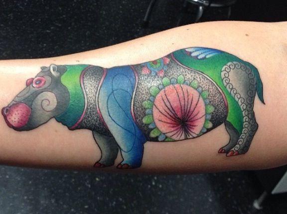 Hippo Tattoo