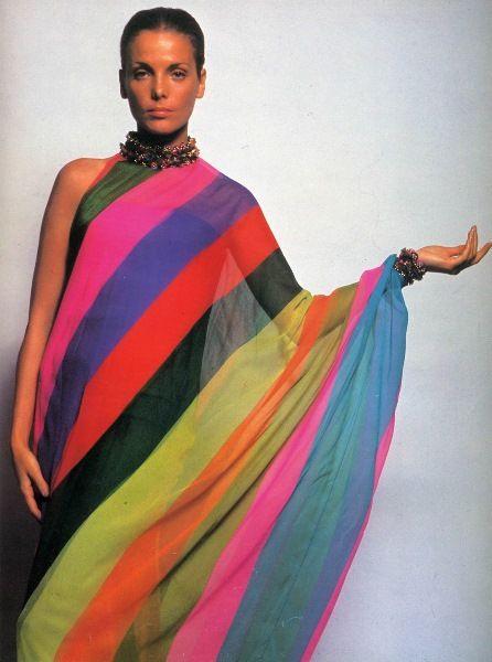 Evening Dress by Dior, 1967