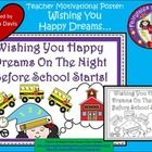 FREEBIE!  I hope that everyone sleeps well the night before school starts!  This is a simple poster I made to go with one of the stories on my blog Fairytale...