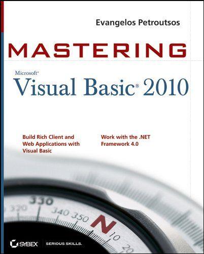 212 best visual basic images on pinterest computer programming mastering microsoft visual basic 2010 covers visual basic 2010 part of microsofts visual studio fandeluxe Gallery