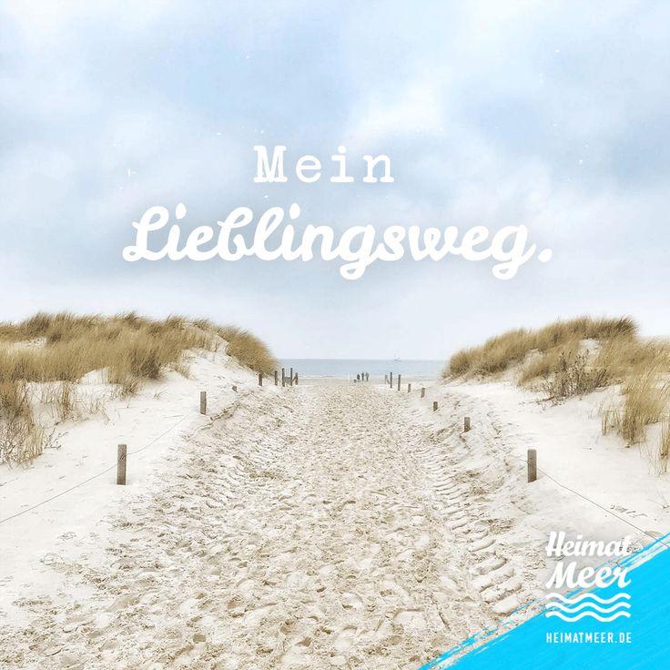 Mein Lieblingsweg. Der ans Meer. Mee(h)r auf Heimatmeer.de >>