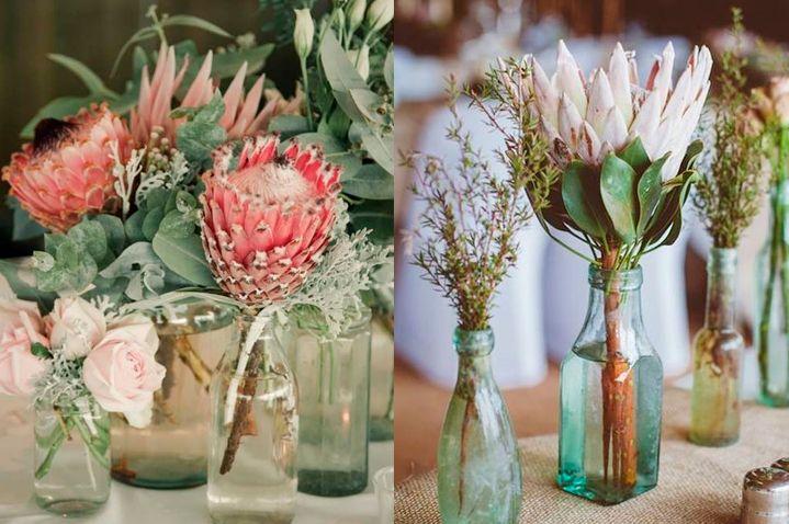 10 flores exóticas e lindas na decoração do casamento - Protea