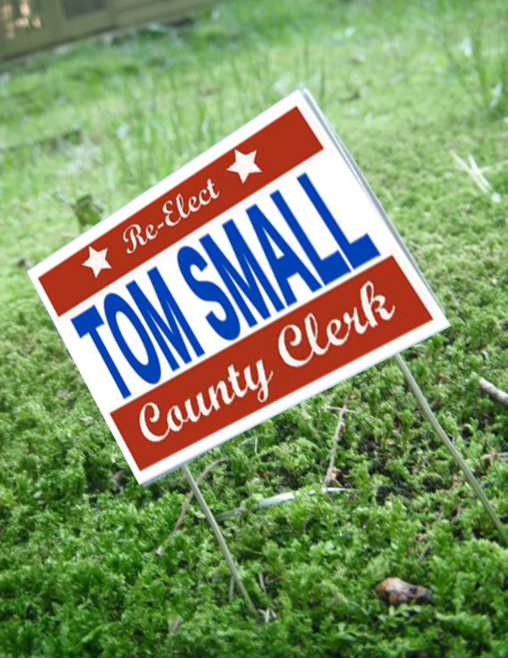 Miniature Political Yard Sign by LDelaney on Etsy, $4.50
