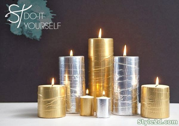Christmas decorations Metallic Glam DIY Projects