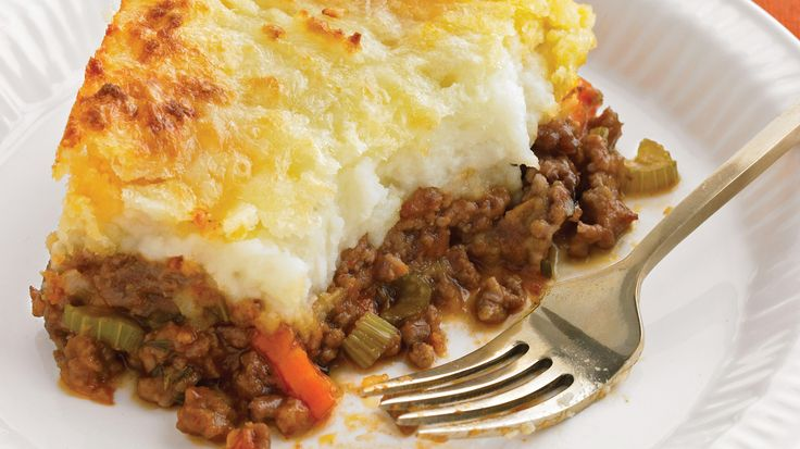 Old-style pubs have it right: Sitting down to a generous helping of shepherd's pie is a true pleasure; making it is happily simple. We've added sharp cheddar to our mashed potatoes for a snappy topping.