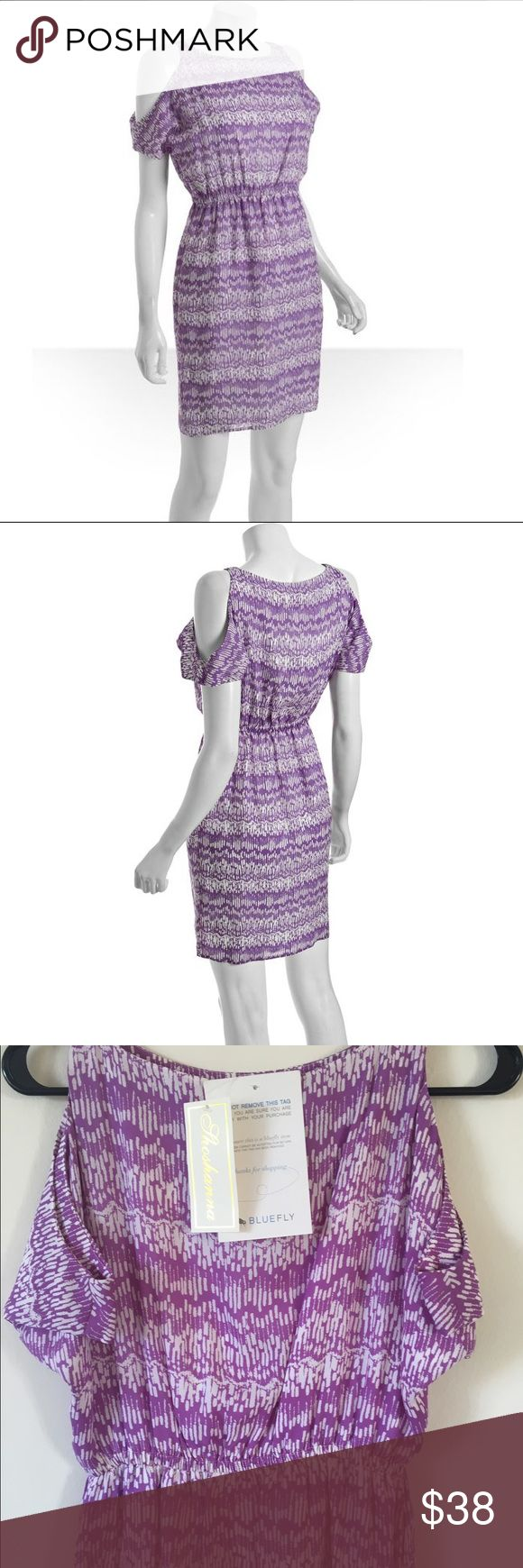 NWT - Violet Cut Out Shoulder Chiffon Dress Shoshanna dress. Great for a wedding or shower. Never worn, bought on Bluefly and has all tags attached. Shoshanna Dresses