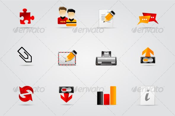 Various website and internet icons. part of Melo icon set. set